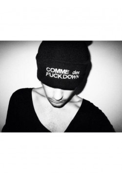 Мужская шапка Comme des Fuckdown черная 1