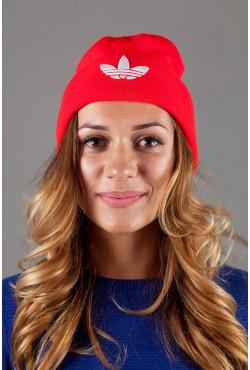 Женская спортивная шапка Adidas2015-Red