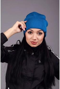 Женская трикотажная шапка Ozzi blue