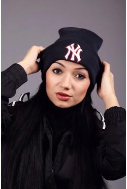 Женская шапка New York Dark Blue