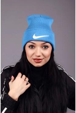 Женская спортивная шапка Nike Blue