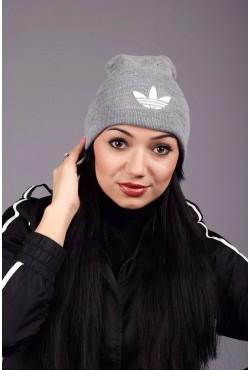 Женская спортивная шапка Adidas Grey