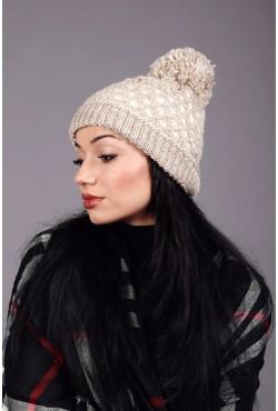Женская вязаная шапка 63S-C8