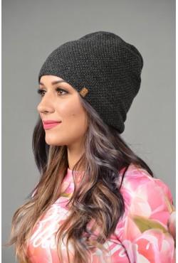 Женская трикотажная шапка ozzi-95-gray-W