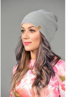 Женская трикотажная шапка ozzi-96-gray-W