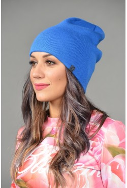 Женская трикотажная шапка ozzi-18-l-blue-W