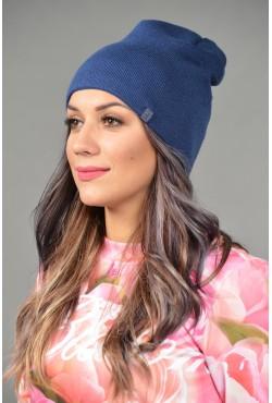 Женская трикотажная шапка ozzi-18-blue-W