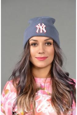 Женская шапка NY blue-r-W