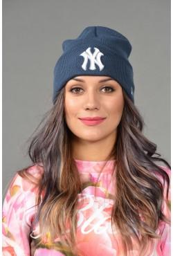 Женская шапка NY blue-W