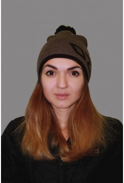 Женская трикотажная шапка ozzi 69-l_brown-W