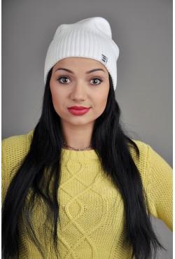 Женская трикотажная шапка OzziWhite3