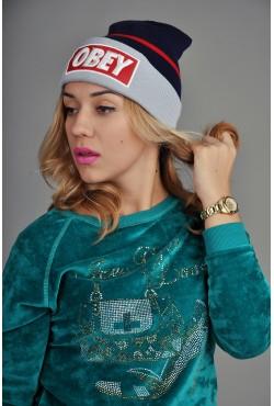 Женская шапка Obey BRG