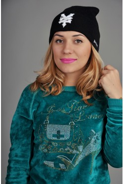 Женская шапка Zoo York черная