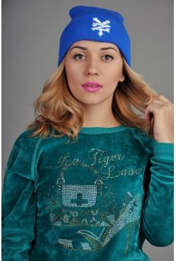 Женская шапка Zoo York синяя