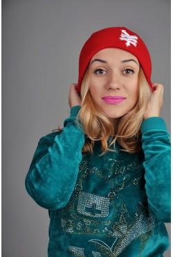 Женская шапка Zoo York красная