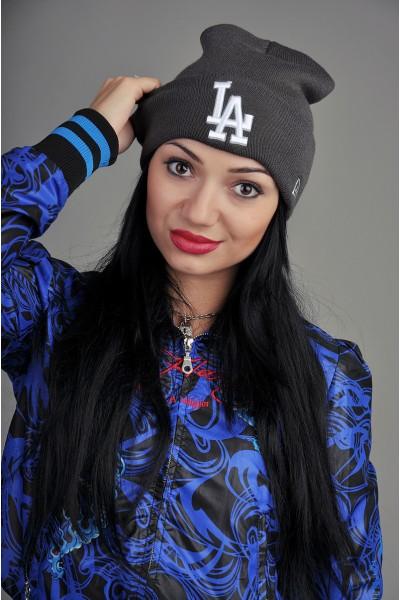 Женская шапка Los Angeles серая