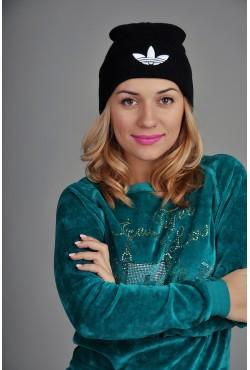 Женская спортивная шапка Adidas черная