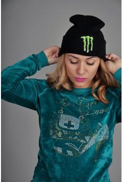 Женская шапка Monster синяя