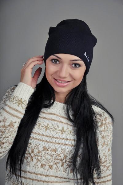 Женская шапка Paul Smith синяя