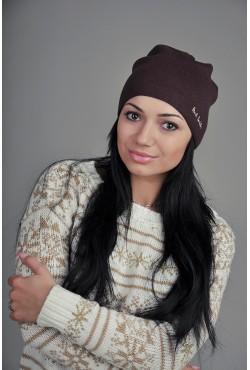 Женская шапка Paul Smith коричневая