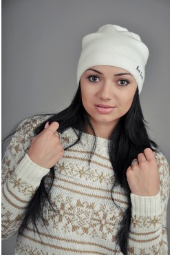 Женская шапка Paul Smith белая