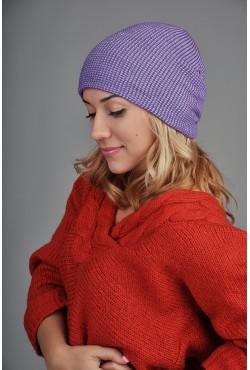 Женская шапка SQWEAR Violet/Grey