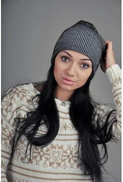 Женская шапка SQWEAR Black/Grey