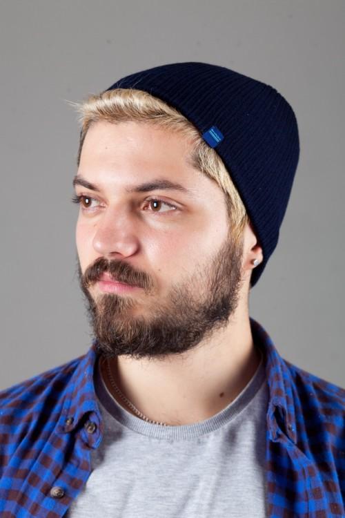 Мужская трикотажная шапка Shado69-Blue_B