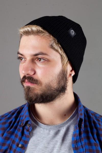 Мужская трикотажная шапка Shado65-Black