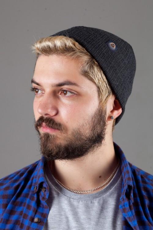 Мужская трикотажная шапка Shado65-DarkGrey