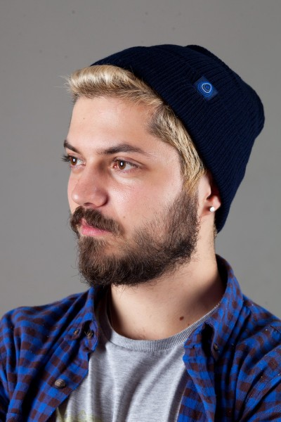 Мужская трикотажная шапка Shado65-Blue