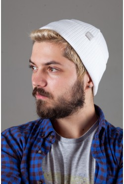 Мужская трикотажная шапка Shado65-White