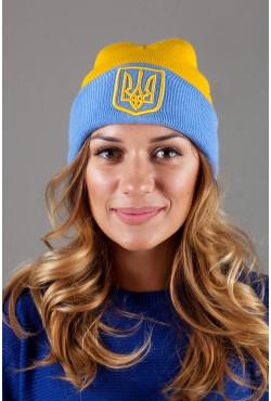 Женская шапка Ukraine-LightBlue