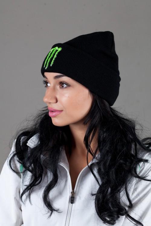 Женская шапка Monster_E-black