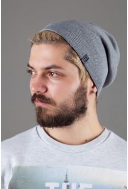 Мужская трикотажная шапка Ozzi18-Light Grey