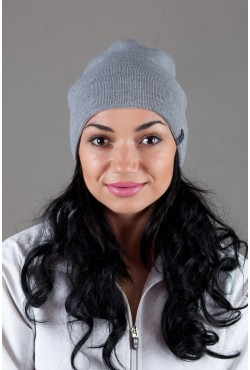 Женская трикотажная шапка Ozzi18-Light Grey