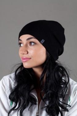 Женская трикотажная шапка Ozzi18-Black