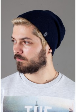 Мужская трикотажная шапка Ozzi18-Dark Blue