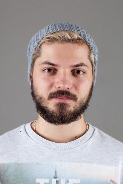 Мужская трикотажная шапка Ozzi32-Light Grey