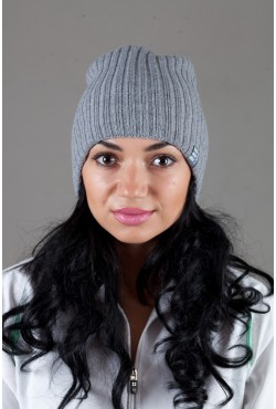 Женская трикотажная шапка Ozzi32-Light Grey