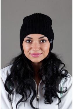 Женская трикотажная шапка Ozzi32-Black