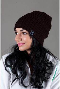 Женская трикотажная шапка Ozzi32-Brown
