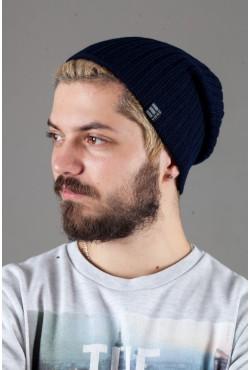 Мужская трикотажная шапка Ozzi32-Dark Blue