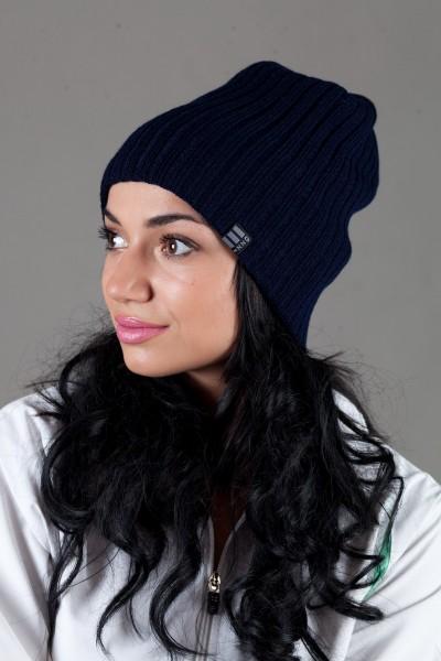 Женская трикотажная шапка Ozzi32-Dark Blue