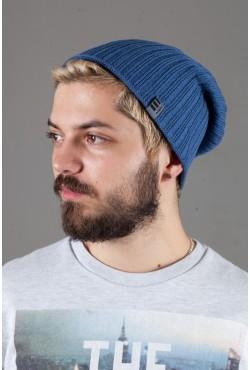 Мужская трикотажная шапка Ozzi32-Light Blue