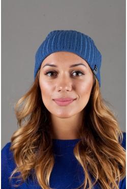 Женская трикотажная шапка Ozzi32-Light Blue