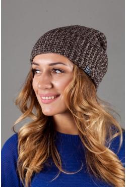 Женская трикотажная шапка Ozzi32-Melange Brown