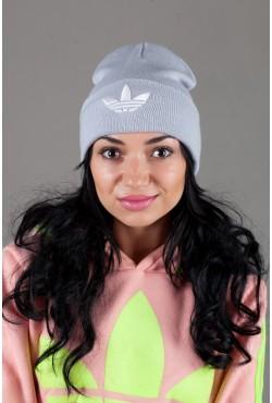 Женская спортивная шапка Adidas2015-LightGrey