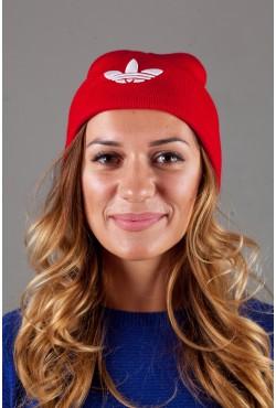 Женская спортивная шапка Adidas2015-DarkRed