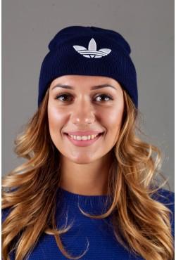 Женская спортивная шапка Adidas2015-DarkBlue